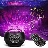 Sanhezhong Star Projector Galaxy Light Projector Skylight for Bedroom Ceiling, LED Starlights Music Sky Light Starry Night Li