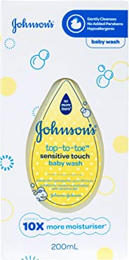 Johnson's Baby Top-to-Toe Sensitive Touch Wash, 200mL
