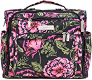 JuJuBe B.F.F Multi-Functional Convertible Diaper Backpack/Messenger Bag, Classic Collection - Blooming Romance