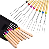 Marshmallow Roasting Stick, Splaks Marshmallow 8 Roasting Sticks 32 Inch Telescoping Extendable Roasting Sticks for BBQ Campi
