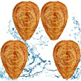4 Pieces Waterproof Wasp Nest Decoys Hanging Hornet Deterrents Fake Cloth Wasp Nest Non-Toxic Bee Decoy Deterrent for Home an