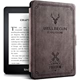 ALMIGHTY Water-Safe Case for Kindle Paperwhite 4 PU Leather Retro Cover with Auto Wake/Sleep, Fits Kindle Paperwhite 4 10th G