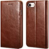 iPhone 7/8 Wallet Case, ICARERCASE Premium PU Leather Folio Flip Cover with Kickstand and Credit Slots for Apple iPhone 7/8 4