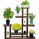 PanelTech Tiered Wood Plant Flower Stand Shelf Planter Pots Shelves Rack Holder Display for Multiple Plants Indoor Outdoor Ga