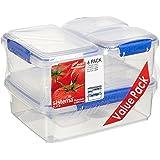 Sistema 1760 Klip It 6 Pack Food Storage Container, Clear