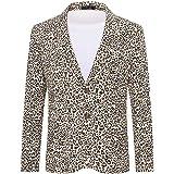 Cloudstyle Men's Beach Floral Slim Casual Blazer One Button Long Sleeve Sport Coat Jacket