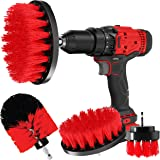 CLEANZOID Drill Brush Set Attachment Kit Pack of 3 - All Purpose Power Scrubber Cleaning Set for Grout, Tiles, Sinks, Bathtub