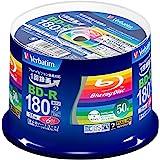 Verbatim バーベイタム 1回録画用 ブルーレイディスク BD-R 25GB 50枚 ホワイトプリンタブル 片面1層 1-6倍速 VBR130RP50V4