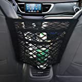 NEOUZA 3-Layer Car Mesh Organizer, Seat Back Net Bag, Barrier of Backseat Pet Kids, Cargo Tissue Purse Holder, Driver Storage