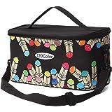 (Black) - Toprema New Marker Pen Case Holder for 120 Markers Organiser Multifunctional Zipper Storage Carrying Bag with Patte