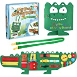 PP OPOUNT Basic Skills Activity Board Montessori Toys for Tddlers, Sensory Toddler Activity Board for Educational Learning To