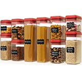 Shazo Airtight Container Set for Food Storage - 10 Pc Set with Interchangeable Lids - Heavy Duty BPA Free Plastic - Airtight