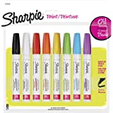 Sharpie Oil-Based Paint Markers, Medium Point, Assorted Colors, 8 Count - Great for Rock Painting