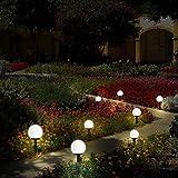 Otdair 8個セット ソーラーライト 屋外 LED花园灯 地中埋込型 防災 自動点灯 玄関先/車道/歩道//庭/ガーデン 白色光