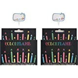 Kemladio Birthday Cake Candles Happy Birthday Candles Colorful Candles Holders Included (24, Medium)