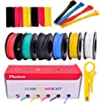 22GA Hook up Wire Kit - 22AWG Silicone Wire - 600V Tinned Stranded Electrical Wire of 6 Different Colors x 23 ft each - Black