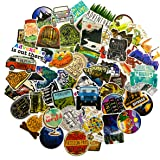 Outdoor Stickers 65-Pack, Stickers for Hydro Flask Water Bottles Waterproof Vinyl Aesthetic Trendy Sticker Decal Pack for Tee