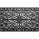 "Calloway Mills 900222436 Gatsby Rubber Doormat, 24"" x 36"", Black"