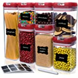 Kitchen Logic Airtight Food Storage Containers with Lids, Easy To Lock, Kitchen Pantry Organization and Storage Container Set
