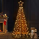 LED Christmas Tree 7FT Solar Fairy Standing Light Decor 2.1M Waterproof Jingle Jollys Outdoor Indoor Festive Home Lawn Yard M