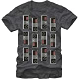 Nintendo Men's T-Shirt, Char HTR
