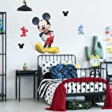 """Disney Mickey Mouse Wall Decal - Mickey Mouse Bedroom Decor Wall Stickers with 3D Augmented Reality Interaction 29"""" Tall x 20"""