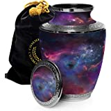 Cosmic Galaxy Universe Cremation Urns for Adult Ashes for Funeral, Niche or Columbarium, 100% Brass, Cremation Urns for Human