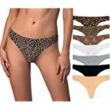 Seamless Thongs For Women no show underwear women thongs 4-7 pack
