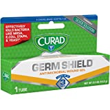 Curad Germ Shield Antimicrobial Silver Wound Gel 0.5 ounces (1 tube), for topical cuts, wounds, diabetic sores, MRSA, bacteri
