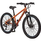 Schwinn High Timber Mountain Bike, Aluminum Frame & Disc Brake, 24-Inch Wheels, Orange
