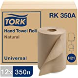 "Tork Universal RK350A Hardwound Paper Roll Towel, 1-Ply, 7.87"" Width x 350' Length, Natural, Green Seal Certified (Case of 12"
