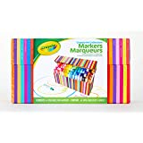Crayola Pip-Squeaks Kids' 64 Marker Collection, Washable Mini Markers, Wide Tipped, 64 Bright Colours, Decorative Storage Cas