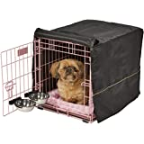 Pink Dog Crate Starter Kit | 24-Inch Dog Crate Kit Ideal for Small Dogs Weighing 13-25 Pounds | Includes 1 - Door Dog Crate,