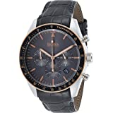 BOSS Trophy, Quartz Stainless Steel and Leather Strap Casual Watch, Grey, Men, 1513628