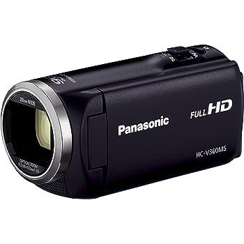 Panasonic HDビデオカメラ V360MS 16GB 高倍率90倍ズーム ブラック HC-V360MS-K