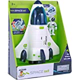 COOLDUCK Space Shuttle Spacecraft Airplane Toys for Kids with Lights & Sound & Astronaut Figure,Spaceship Toys for Any Inters
