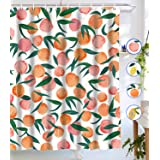 Tapejoy Fruit Shower Curtain, Summer Main Shower Curtain, Tempting Delicious Shower Curtain Sets Peach