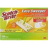 Scotch-Brite Q600RD-200 Easy Sweeper Dry Refill Bulk Pack, 200 sheets