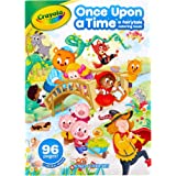 CRAYOLA CY04-1080 Fairytale Colouring Book, 64 Pages of Various Fairy Tales, Little Red Riding Hood and More, Includes Sticke