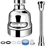 Sink Faucet Sprayer Attachment, INAYA Movable Kitchen Tap Head, 360° Rotatable Anti-Splash Faucet Nozzle Head with Hose - Bes