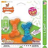 Nylabone Moderate Chew FlexiChew Bone Bacon & Peanut Butter Flavor XX-Small/Tiny - Up to 8 lbs.