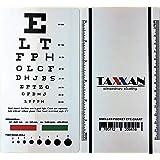 TAXXAN (3) Snellen Pocket Eye Chart in one Pack