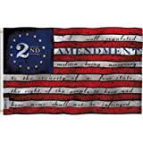ANLEY Fly Breeze 3x5 Foot 2nd Second Amendment Flag - Vivid Color and Fade Proof - 2nd Amendment 1791 Vintage American Flags