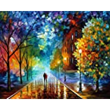 BOSHUN Paint by Numbers Kits with Brushes and Acrylic Pigment DIY Canvas Painting for Adults Beginner- Romantic Night 16 x 20