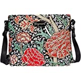William Morris Strawberry Thief Mini Satchel Crossbody Bag by Siganre