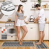 Pretigo Anti Fatigue Kitchen Rug Set 2 Piece Non Slip Cushioned Kitchen Floor Mat Waterproof Comfort Standing Kitchen Mat 17.