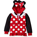 Disney Baby-Girls IESTM01-5T13 Minnie Mouse Costume Zip-up Hoodie Long Sleeve Hooded Sweatshirt - Multi