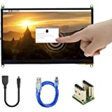 UCTRONICS 7 Inch IPS Touch Screen for Raspberry Pi 4, 1024×600 Capacitive HDMI LCD Touchscreen Monitor Portable Display for R