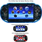(PC-Light Blue) - COSMOS Light Blue crystal protection hard case cover for Playstation PS VITA & Cosmos Brand LCD Touch Scree