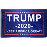 DFLIVE AFlag Donald Trump President 2020 Keep America Flag 3x5 Fee, Blue